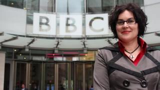 Alana Valentine at BBC Broadcasting House, London. Oct 2014