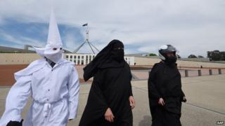 Image of the three men who attempted to enter Australia's Parliament House on 27 October 2014.