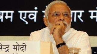 Mr Modi wants the ruling coalition's MPs to promote his government's policies