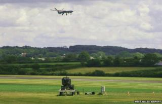Drone testing at West Wales Airport