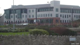 Denbighshire council offices in Ruthin