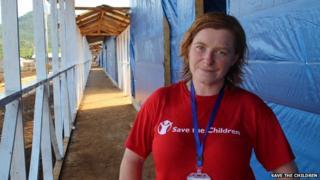 Picture of Rachael Cummings working in Sierra Leone