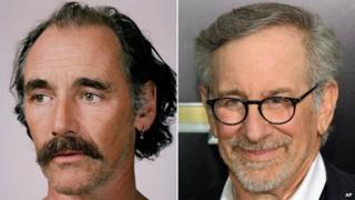 Mark Rylance and Steven Spielberg