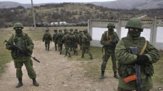 Russian troops in Crimea - file pic