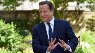 David Cameron in the Downing Street garden