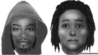Composite images of the suspects in the shooting of Senzo Meyiwa