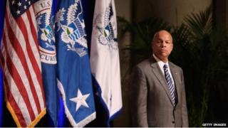 Homeland Security Secretary Jeh Johnson appeared in Washington on 23 October 2014