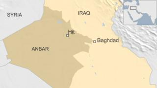 Map showing Hit in Iraq