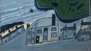 Alfred Wallis - The Hold House Port Mear Square Island Port Mear Beach, c.1932