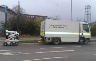 Bomb disposal van