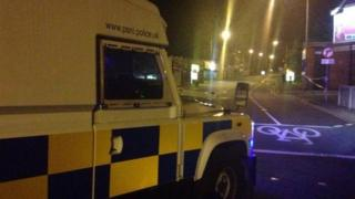 security alert Newtownards road