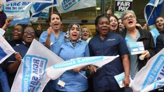 Midwives on strike