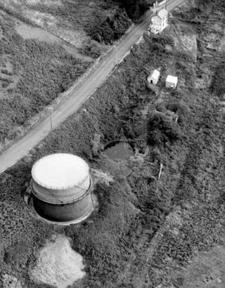 The former gasworks at Aberdyfi