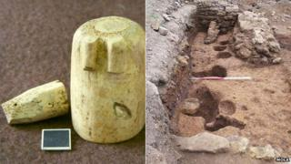 Medieval chess pieces and postholes, Northampton