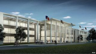 CGI of Defence training college at Worthy Down