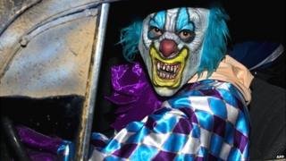 Evil-looking clown - file pic