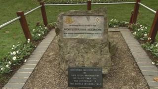 Memorial in Gheluvelt Park, Worcester