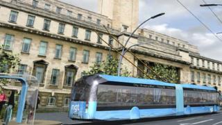 Artist impression of NGT bus