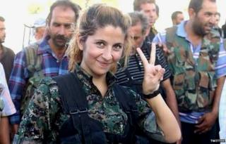 Woman photographed in Kobane become internet legend.
