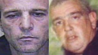 Philip Heggarty (left) and his victim Derek Bennett