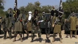A screengrab from a video released by Boko Haram, showing its leader Abubakar Shekau delivering a speech - 31 October 2014