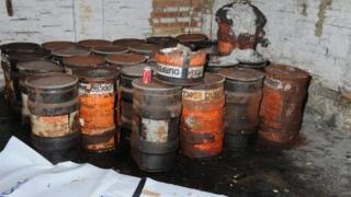 Cyanide drums