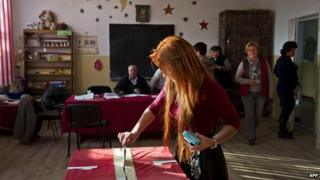 Voting in Romania