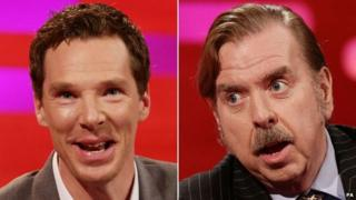 Benedict Cumberbatch and Timothy Spall