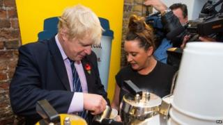 London Mayor Boris Johnson launches living wage