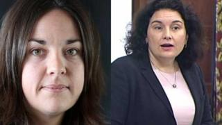Kezia Dugdale and Katy Clark are standing to be deputy leadership of Scottish Labour