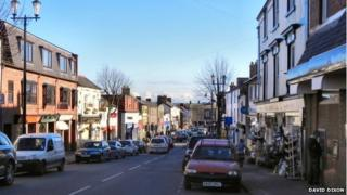 High Street in Mold