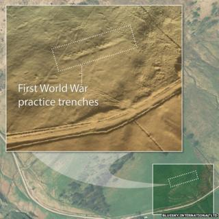 World War One trenches map