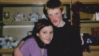 Dylan Roberts with sister Llinos died at home suddenly in 2007