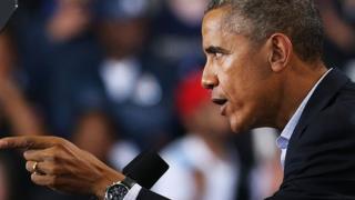 President Barack Obama speaks in Connecticut.