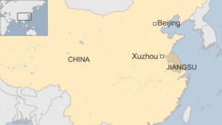 Map showing Xuzhou city in Jiangsu