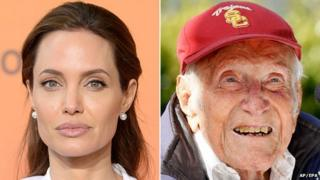 Angelina Jolie and Louis Zamperini