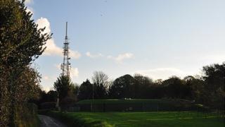 Les Touillets transmitter in Guernsey