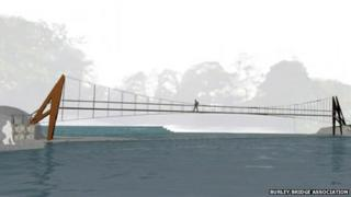 Artist impression of the proposed bridge