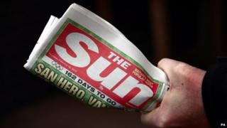 A copy of The Sun