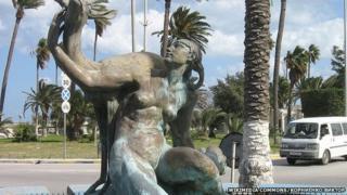 Maidan Al gazala statue in Tripoli, Libya (2009)