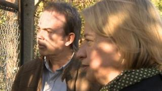 The Green Party's Clive Gregory and Natalie Bennett
