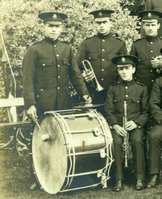 1913 photo of Yeovil Military Band