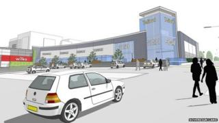 Artists impression of revamped Telford Shopping Centre