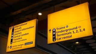 signs at Heathrow Airport