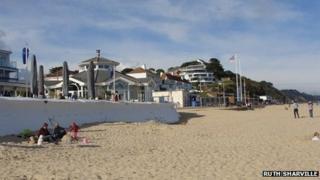 Shore Road beach in Poole