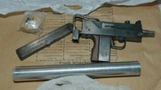 Gun recovered by police in Hawkin Street