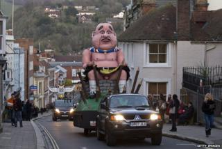 Effigy of Alex Salmond