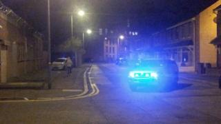 The security alert, seen from Ravenhill Avenue