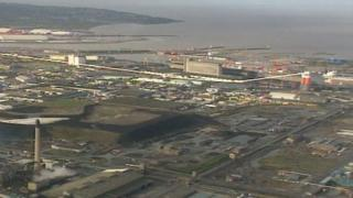 Avonmouth from the air