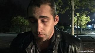 A police picture showing David Michael Kalac shortly after his arrest